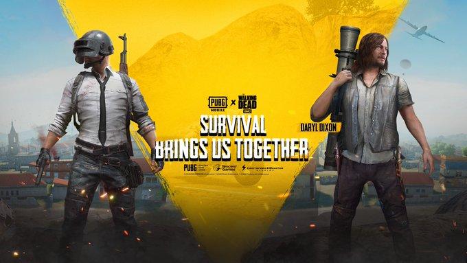 PUBG Mobile объявляет о сотрудничестве с The Walking Dead