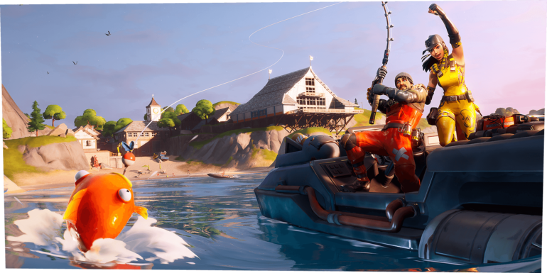 Игроки могут ловить выпавшую добычу в Fortnite