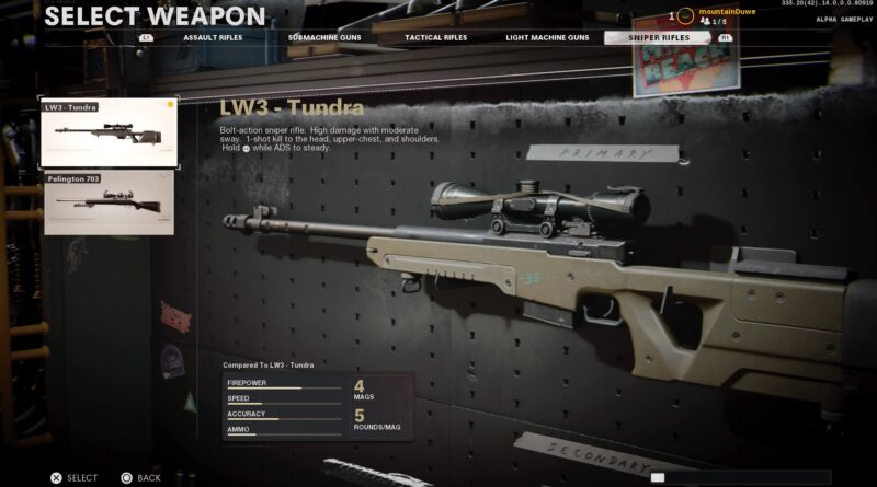 Лучшие загрузки LW3 Tundra в Call of Duty: Black Ops Cold War