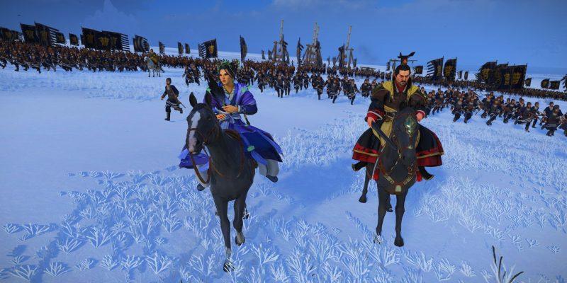 Total War: Three Kingdoms - Fates Divided - брак Цао Пи и Чжэнь Цзи