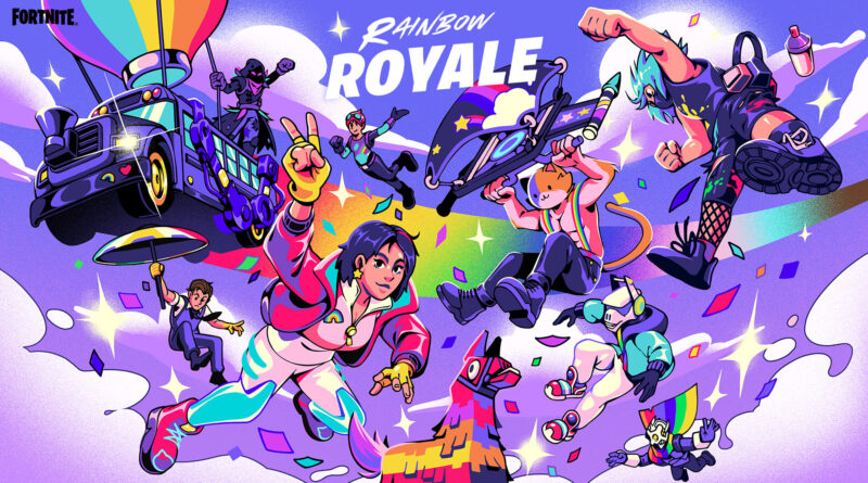 Fortnite представляет событие Rainbow Royale