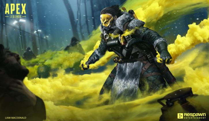 Игрок Apex Legends Caustic убивает Лайфлайн своим собственным